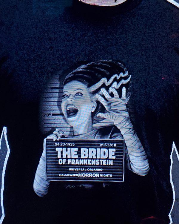 Halloween Horror Nights Horror Ink Universal Studios Parks (Men's or Ladies) Shirt Mug Shot Bride of Frankenstein