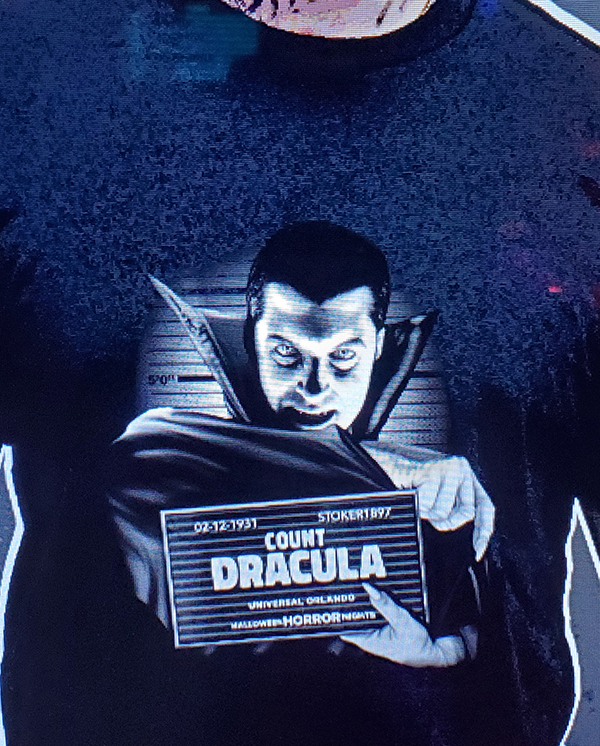 Halloween Horror Nights Horror Ink Universal Studios Parks (Men's or Ladies) Shirt Mug Shot Count Dracula