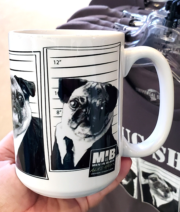 Universal Studios Parks MIB Men in Black Frank the Pug Coffee Mug Pug Shots