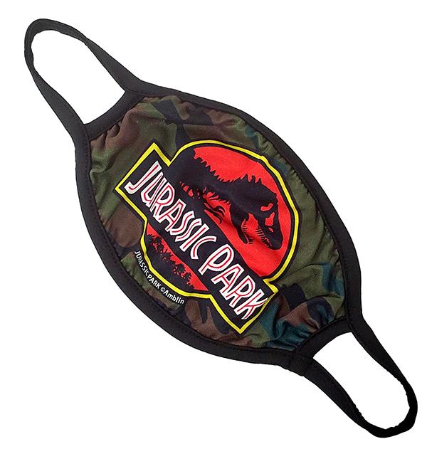 Universal Studios Parks Face Mask - Jurassic Park Logo Green Camo
