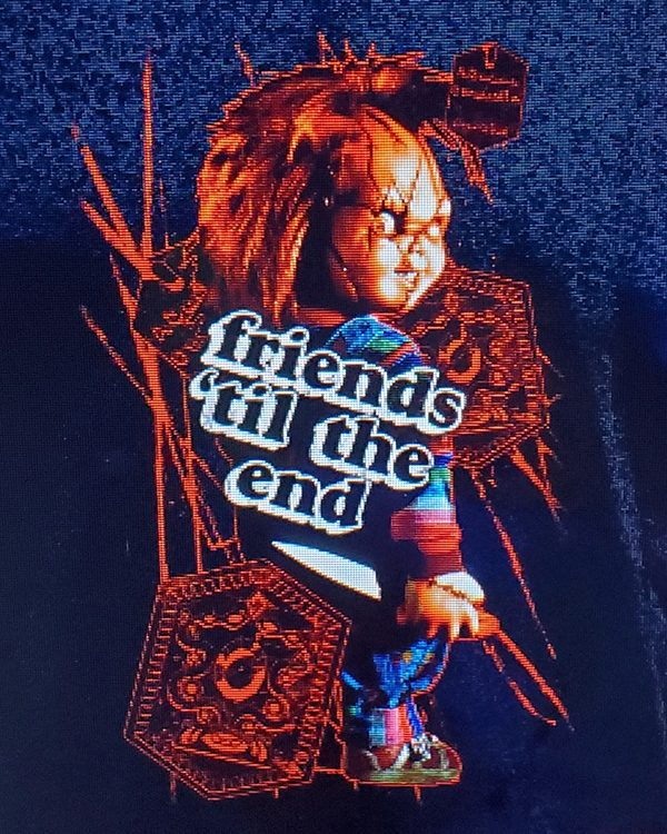 Halloween Horror Nights Horror Ink (Men's or Ladies) Shirt Chucky Friends till the End