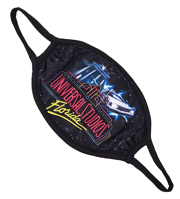 Back To The Future Universal Studios Face Mask Adult Size Large
