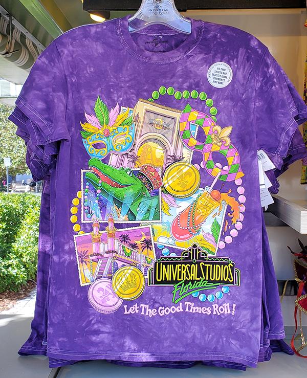 Universal Studios Orlando Parks 2020 Mardi Gras King Gator Men's Shirt