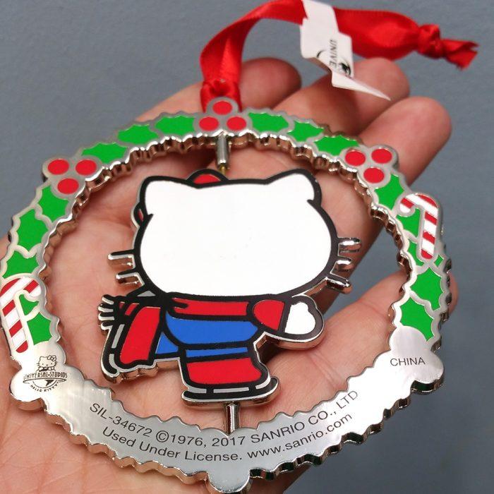 Hello Kitty Universal Studios Ornament Ice Skating